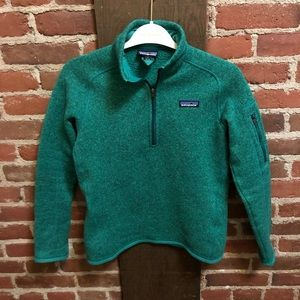 Patagonia Jackets & Coats - Patagonia green Better Sweater Quarter Zip Fleece